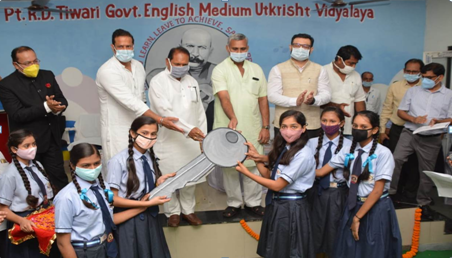 After 16 months, the school bell rang once again: School Education Minister welcomed the children with a tilak