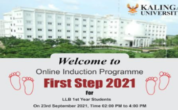 """Online event of """"First Step -2021"""" concluded to welcome newly admitted LLB students in Kalinga University"""