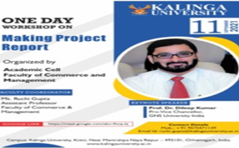 Kalinga University Raipur organizes one day workshop on preparation of project reports