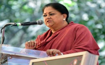 The identity of the peaceful and secure state of Rajasthan should be restored- Vasundhara Raje