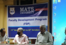 Moral education is also necessary for students: Faculty development program in Shukla Mats University