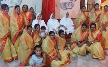 Devotees doing ayushya karma preventive puja euphoric